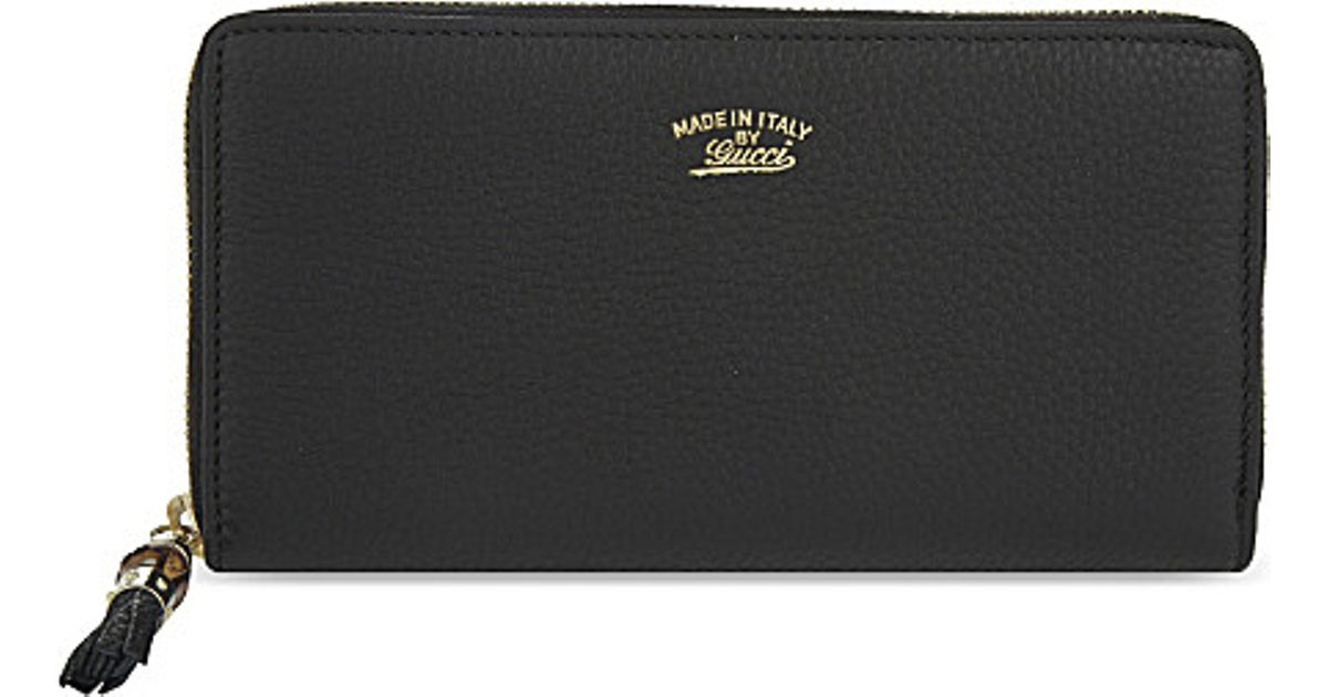 7d6722f1887b3d Gucci Leather Wallet in Black - Lyst