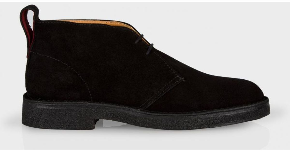 fa4ae0543a6 Paul Smith Brown Men's Black Suede 'sleater' Desert Boots for men
