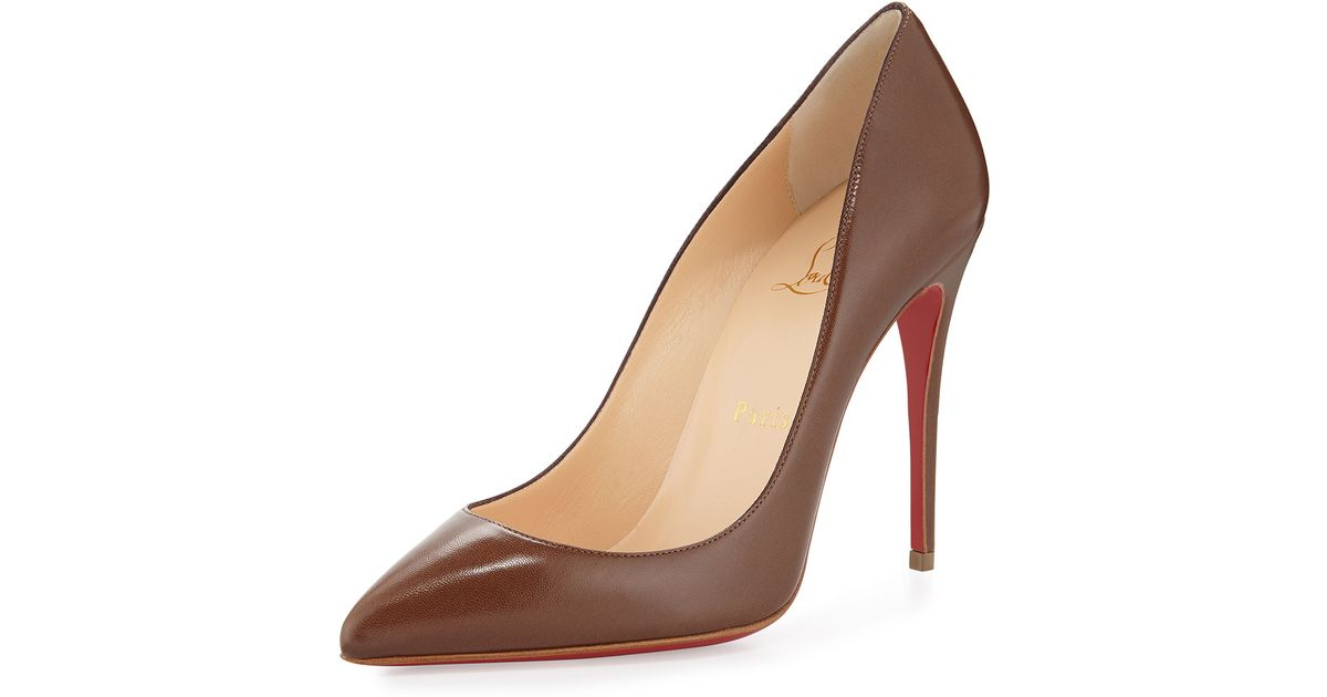 bf843645d39 Christian Louboutin Brown Pigalle Follies Low-cut Point-toe Red Sole Pump