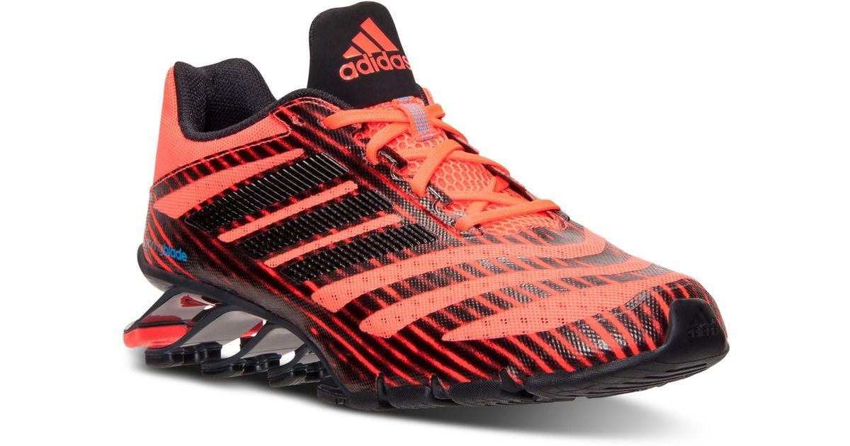 34542e6ba62f Lyst - adidas Men s Springblade Ignite Running Sneakers From Finish Line in  Red for Men