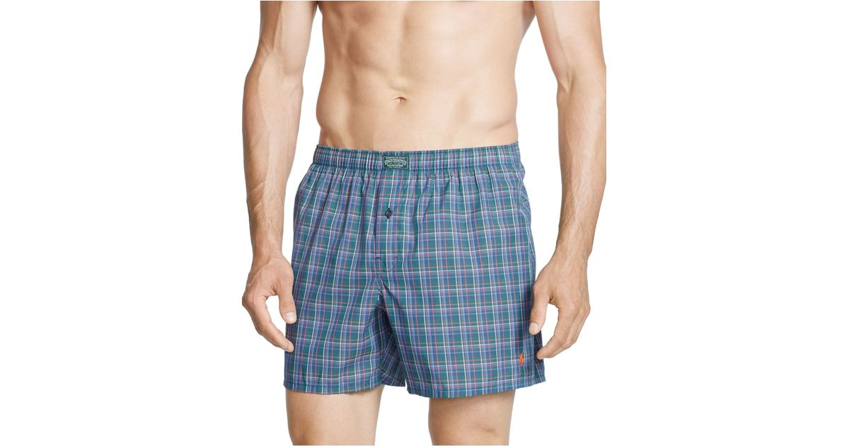 polo ralph lauren men 39 s boxer shorts in blue for men lyst. Black Bedroom Furniture Sets. Home Design Ideas