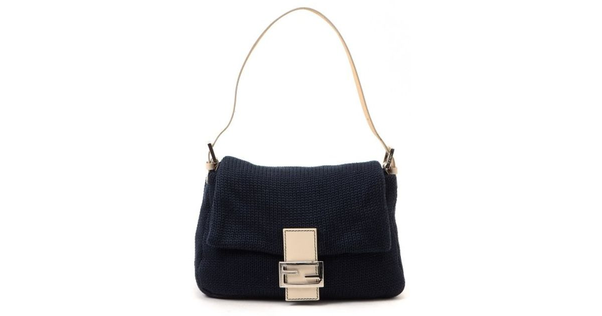ca8d1252ee4b Lyst - Fendi Guaranteed Authentic Pre-owned Mamma Baguette in Blue