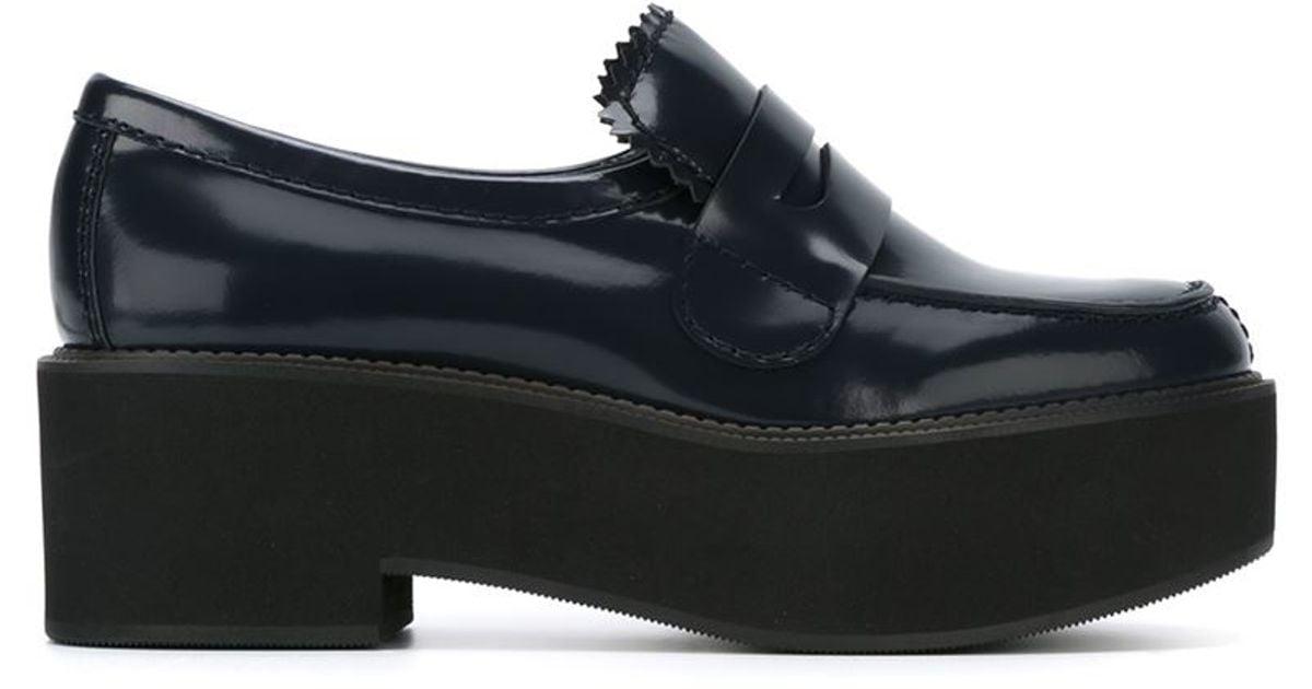 Jil Sander Navy Scalloped Leather