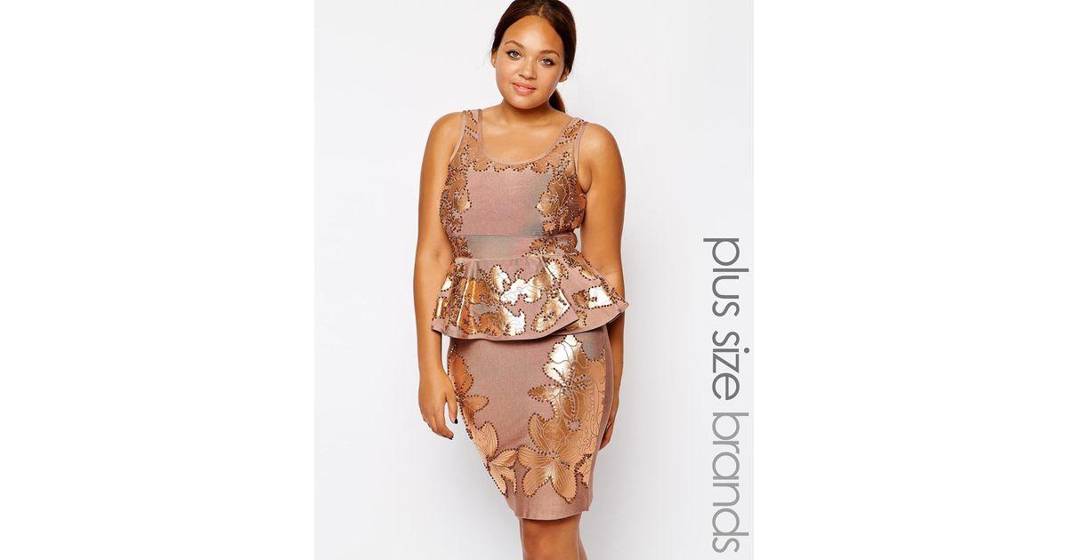 Lyst Forever Unique Plus Size Donatella Embellished Bandage Dress