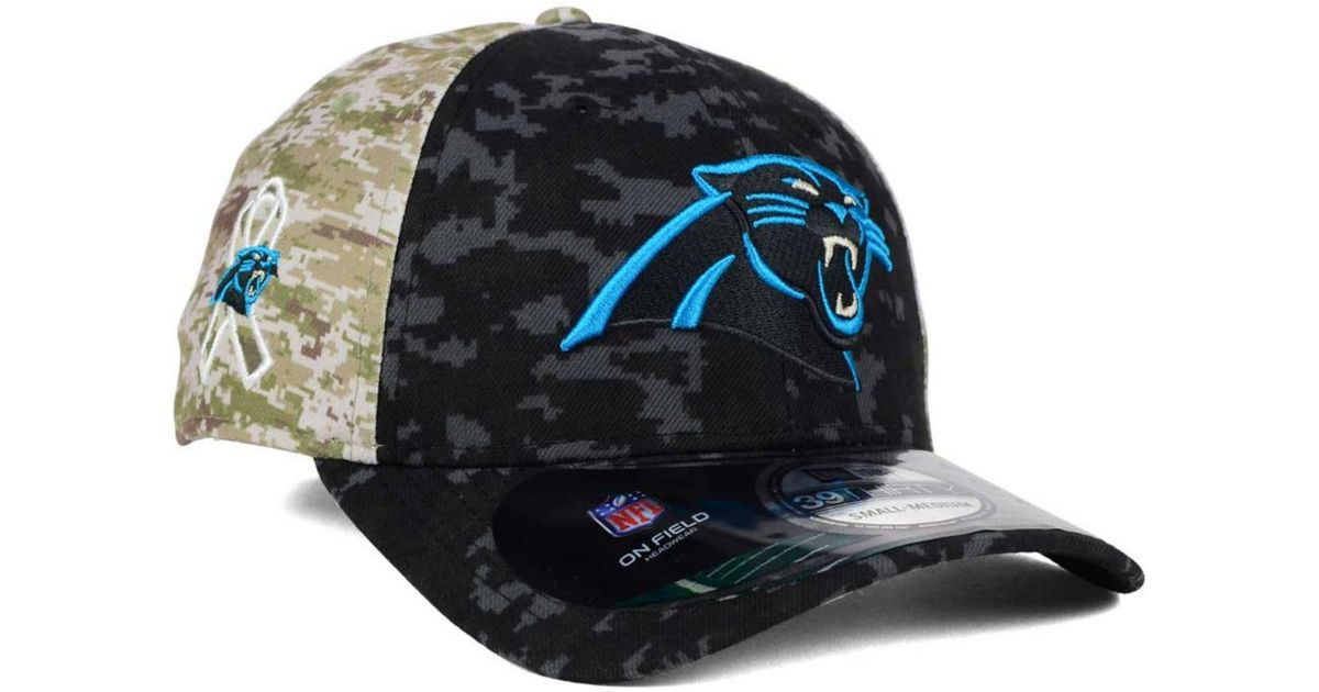 3f3a72f645a Lyst - KTZ Carolina Panthers Salute To Service 39thirty Cap in Black for Men
