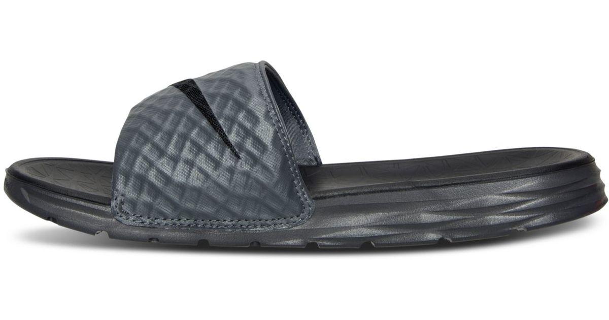 new styles aed8e 008e2 Nike Men s Benassi Solarsoft Slide 2 Sandals From Finish Line in Gray for  Men - Lyst