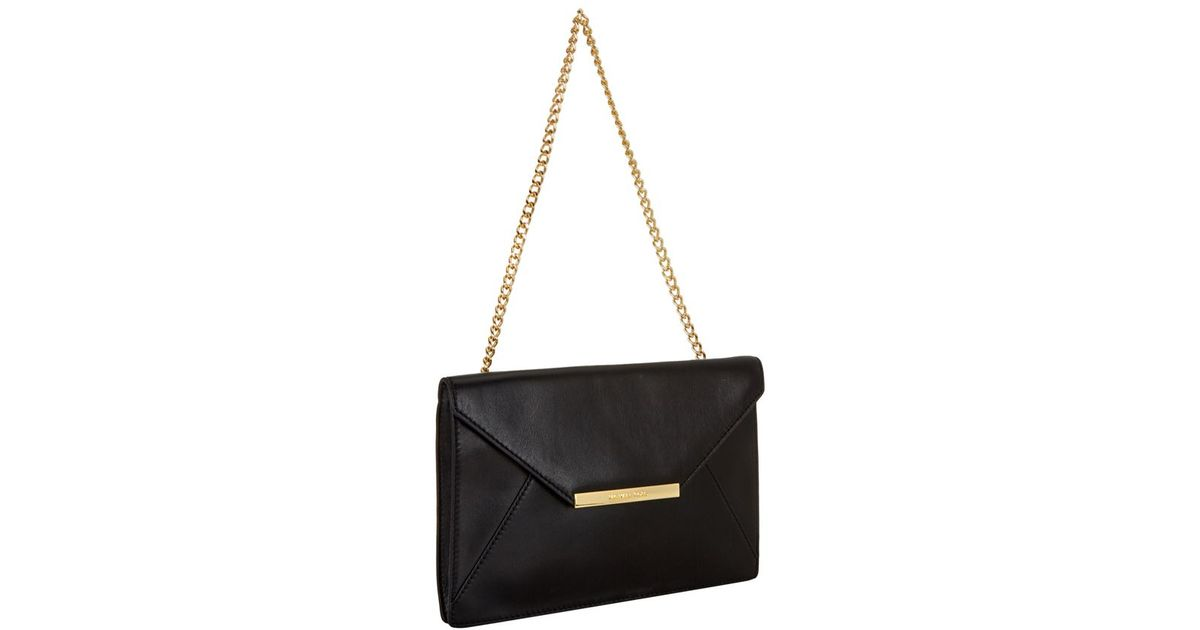 c658ebe266476 MICHAEL Michael Kors Lana Envelope Clutch in Black - Lyst