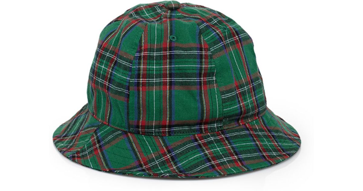 Lyst - Forever 21 Rounded Plaid Bucket Hat in Green for Men 5b13118e6e1
