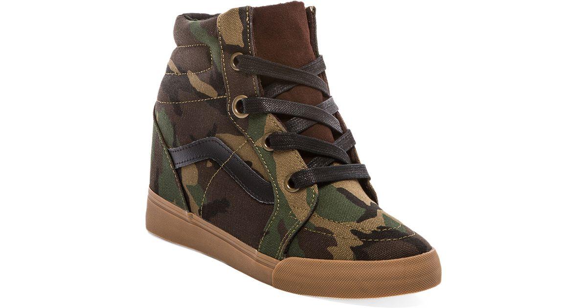 Vans Sk8hi Wedge Sneaker in Olive in
