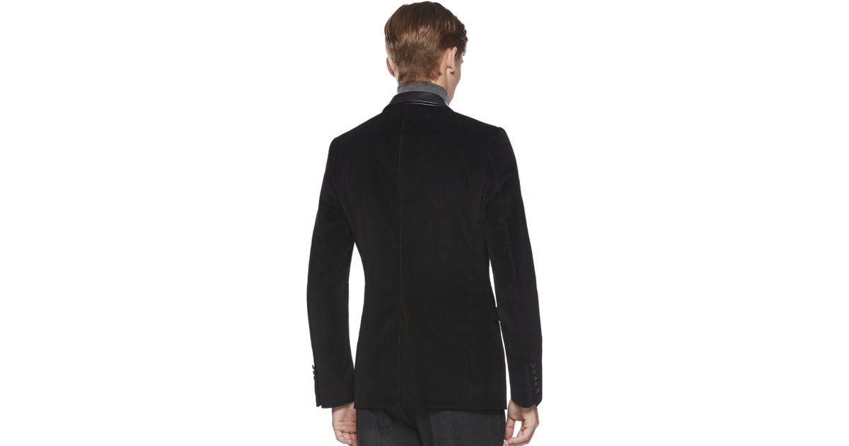 0736ff74a Gucci Corduroy Dylan 60'S Jacket in Black for Men - Lyst