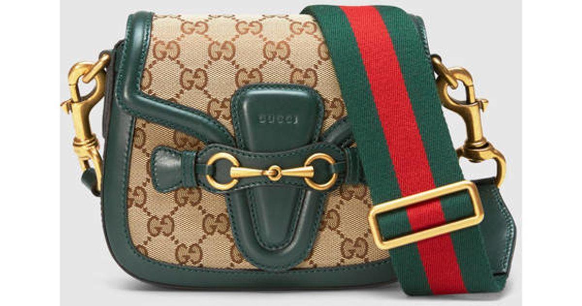 06f091569343 Gucci Lady Web Gg Canvas Shoulder Bag - Lyst