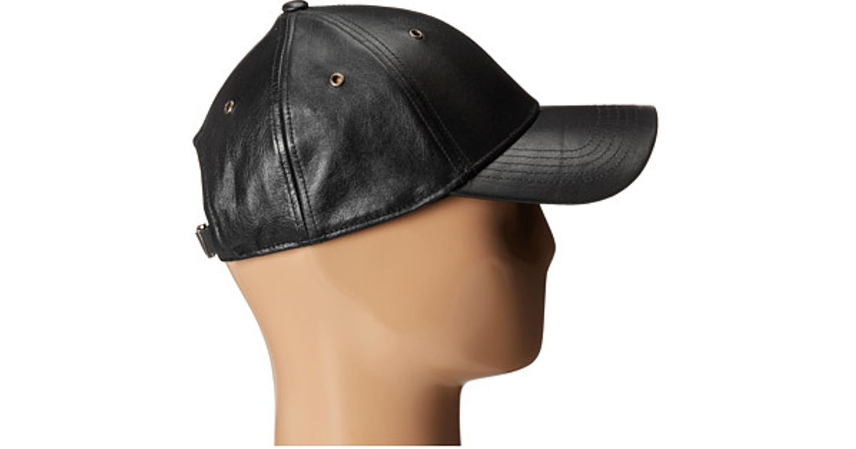 8d3a4022d76 Lyst - Marc By Marc Jacobs Leather Cap in Black for Men