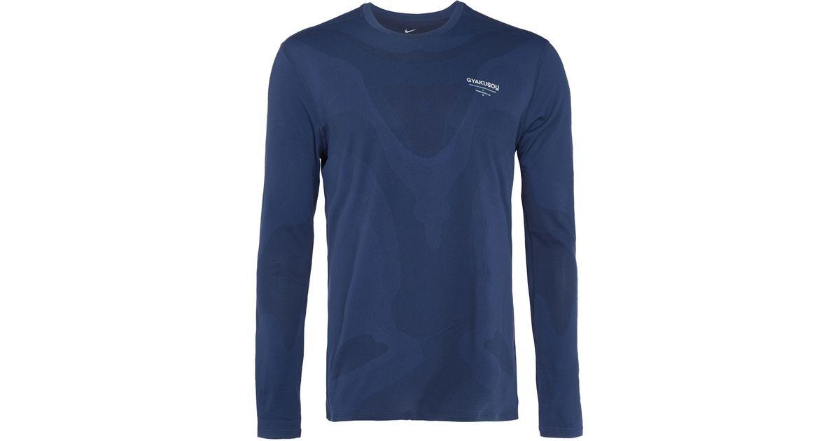 989a724d Nike Navy Gyakusou Dri-fit Long Sleeve Top in Blue for Men - Lyst