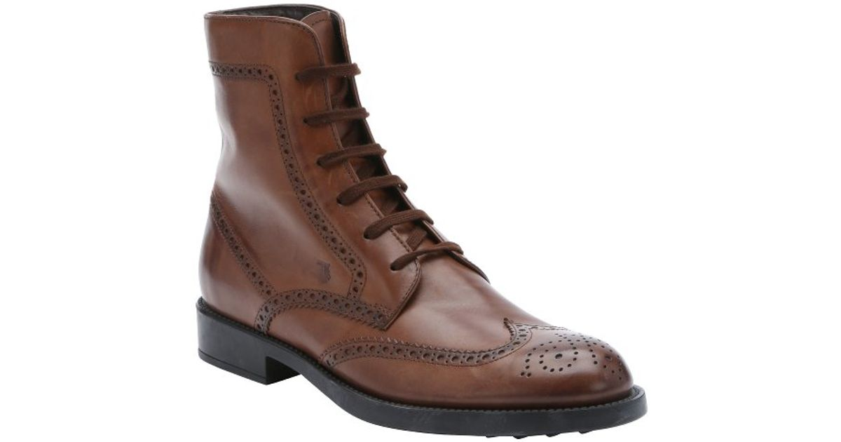 lace up boots - Brown Tod's 0QZOrtT2w