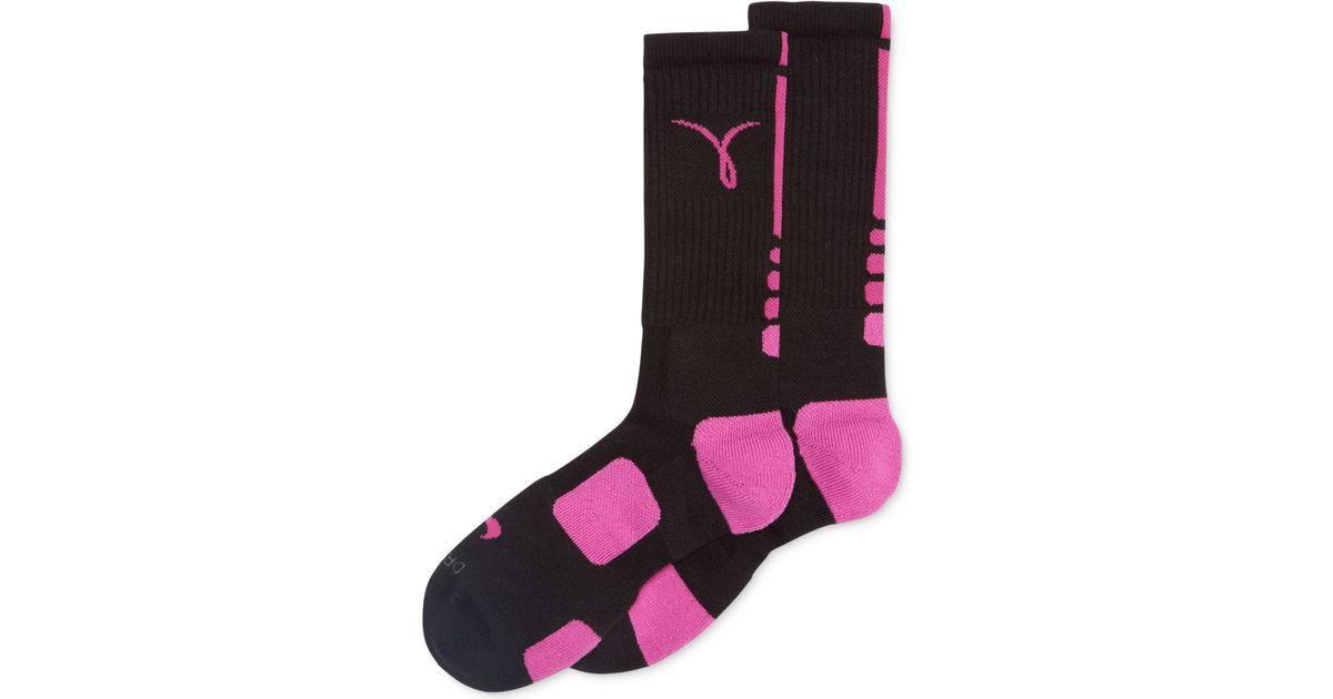 e7a45ccce3755 Nike Black Men'S Kay Yow Elite Basketball Performance Crew Socks - Breast  Cancer Awareness Month for men