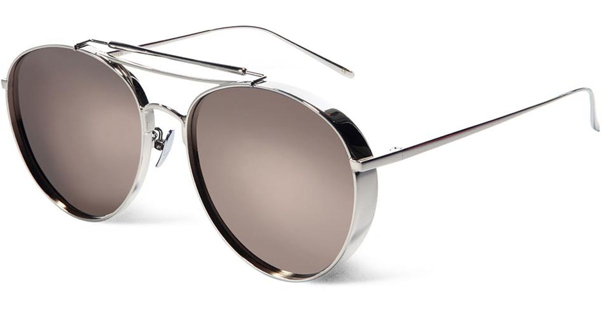 335be7564ce1 Gentle Monster Big Bully Mirrored Aviator-style Sunglasses in Metallic for  Men - Lyst