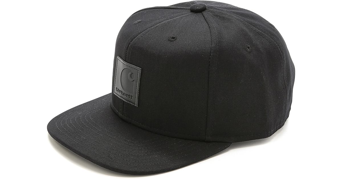 55a7c06ff8c Lyst Carhartt Wip Logo Starter Cap In Black For Men