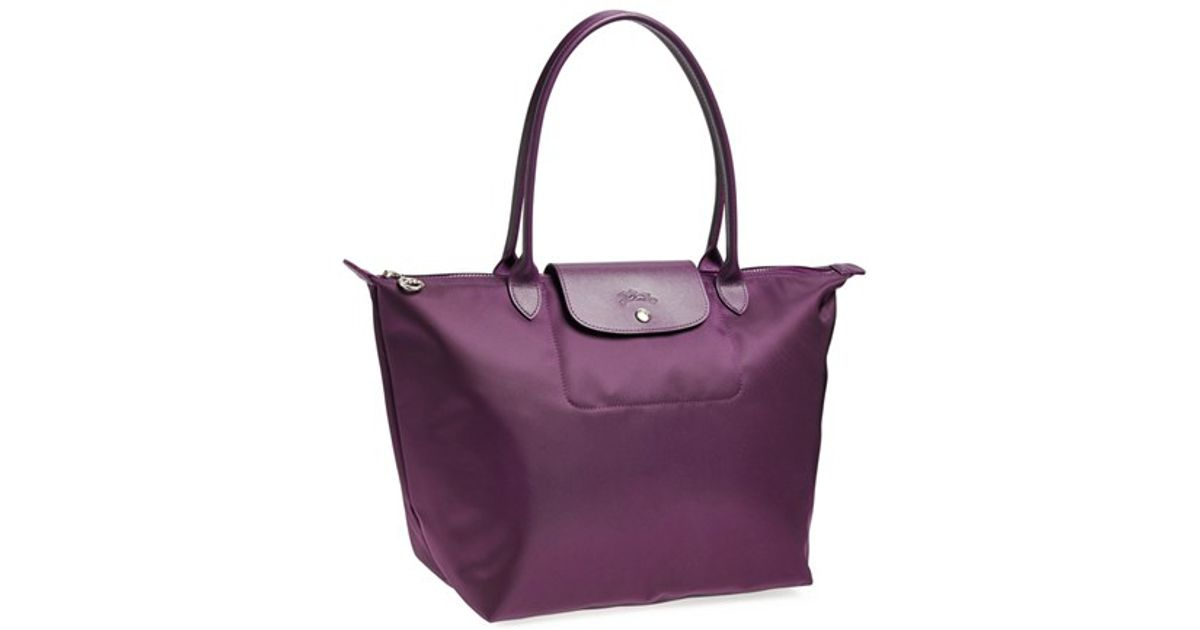 5db3aa519f Lyst - Longchamp  large Le Pliage Neo  Nylon Tote - Purple in Purple