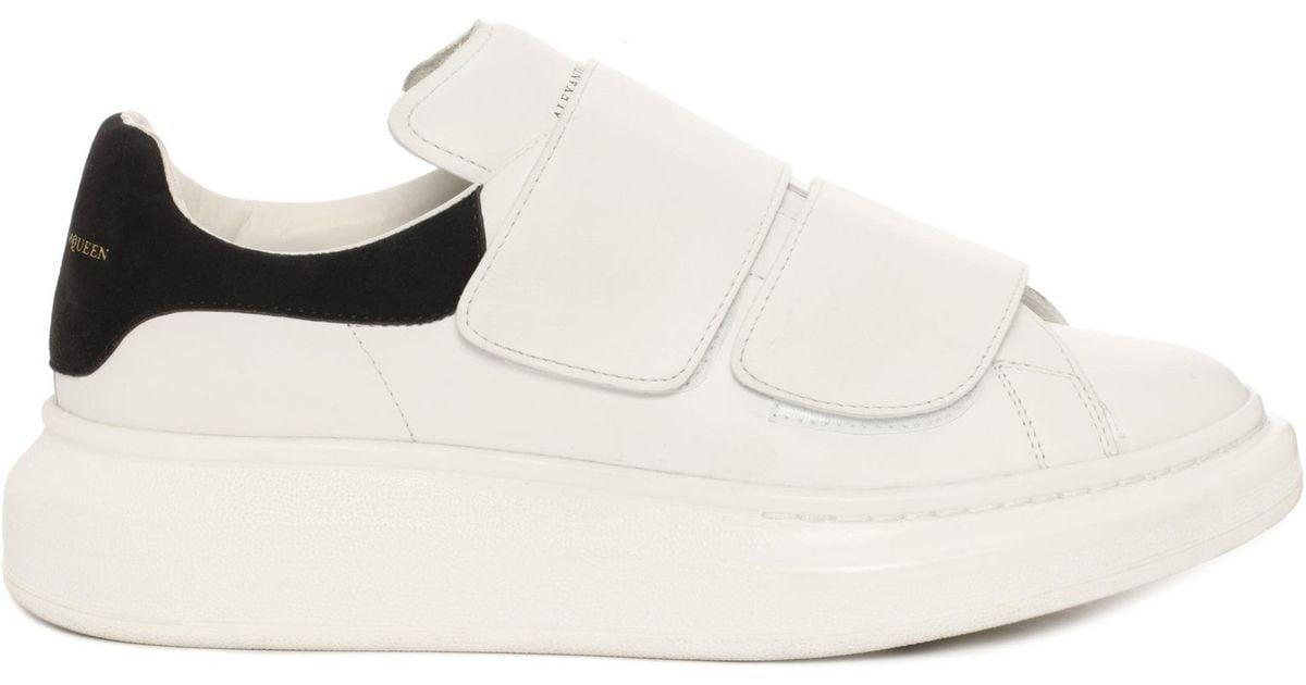 e4d6e41c3 Alexander McQueen White Velcro Strap Oversized Sneaker