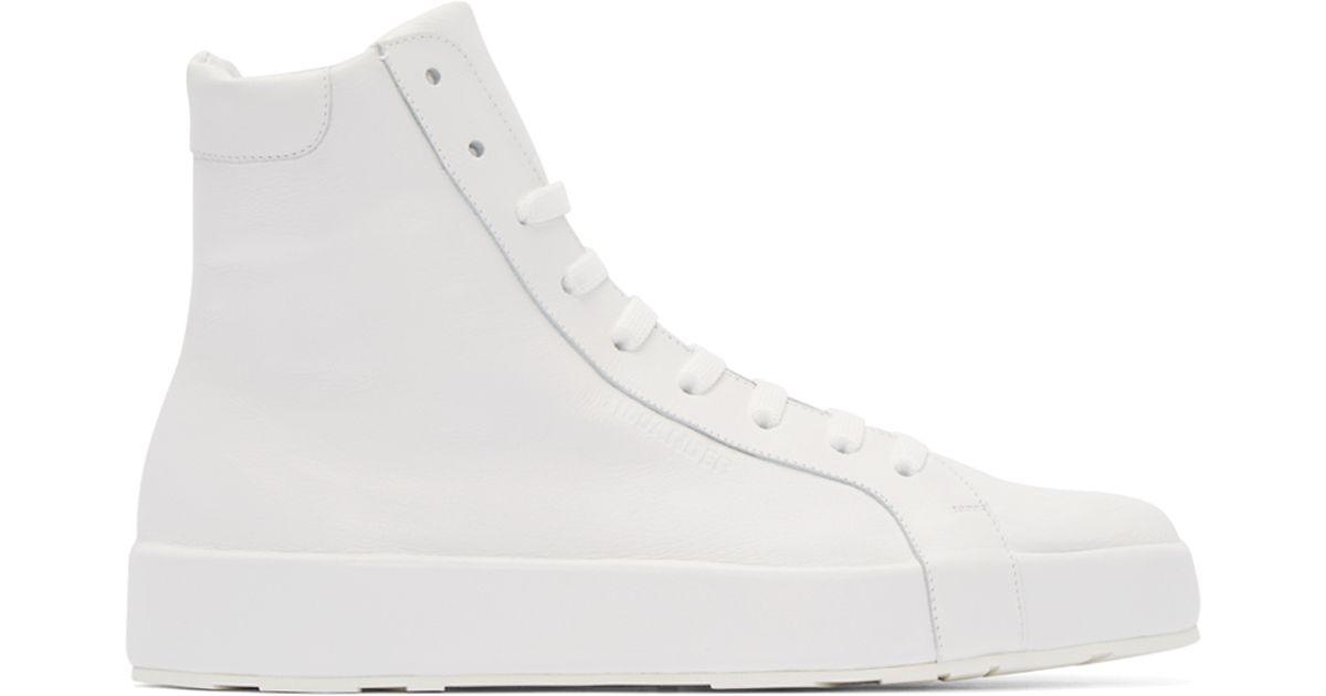 Top Sneakers Jil Leather High Sander White wON8n0vm