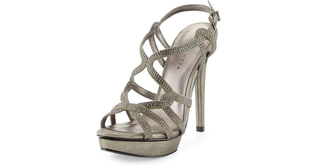 Platform Pelle Flirt Evening Metallic Sandal Moda jqSVGMLzpU