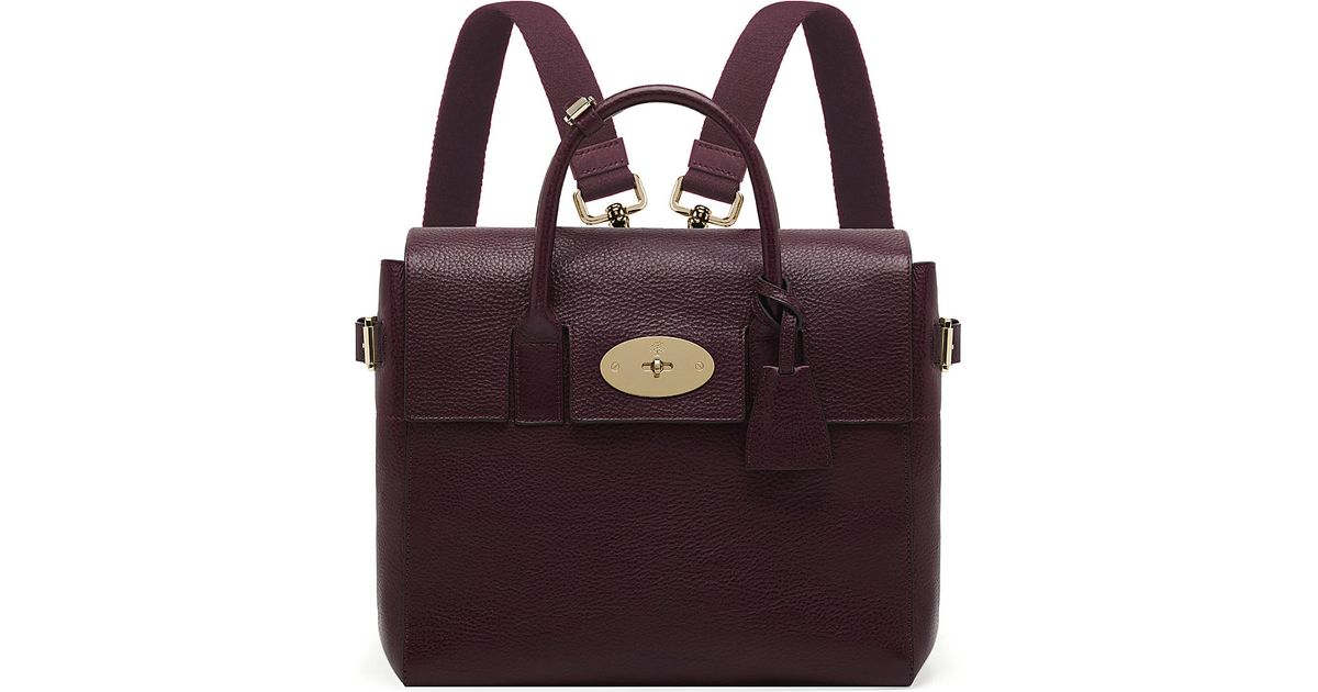 3f52a459de Mulberry Cara Naturalleather Backpack Oxblood in Purple - Lyst