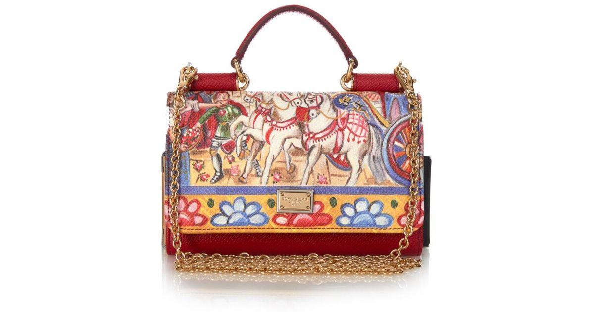 Lyst - Dolce   Gabbana Disco Knights-Print Leather Cross-Body Bag 498aea2898743