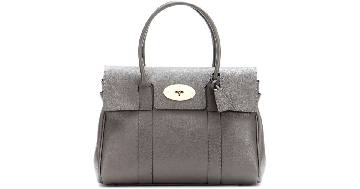 935a8e0a068b ... coupon for lyst mulberry bayswater small leather tote in gray b1c5e  1e085 new style womens bags ...