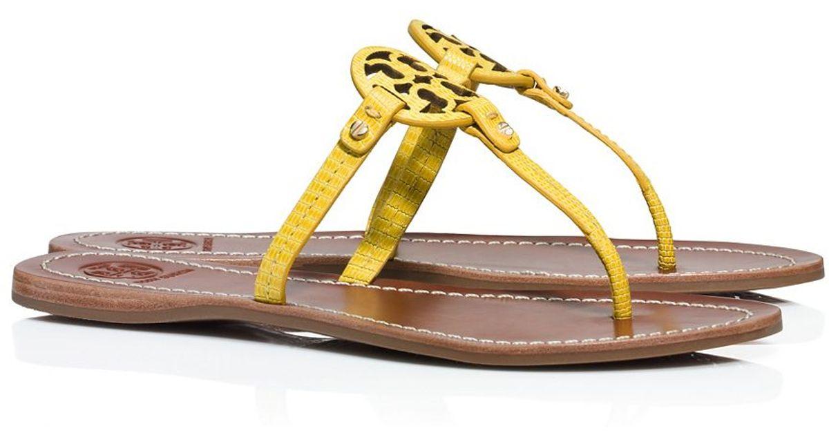 cd697462a8f Lyst - Tory Burch Mini Miller Flat Thong Sandal