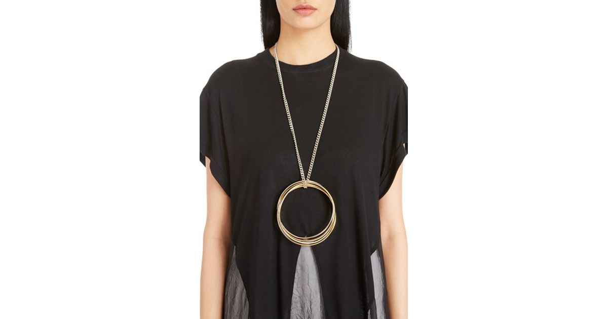 0b5608afc23b9 Givenchy Metallic Multi Ring Necklace