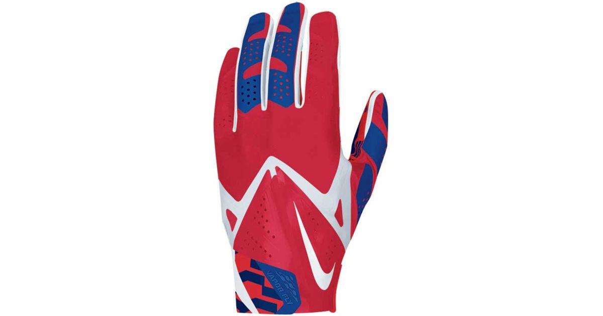 big sale 0abf6 9359f Nike Blue New York Giants Vapor Fly Team Authentic Glove for men