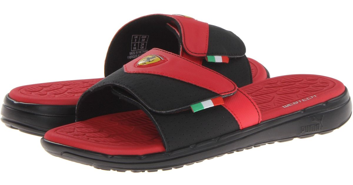 d5fd71d514a Lyst - PUMA Ferrari Slip in Slide in Red for Men