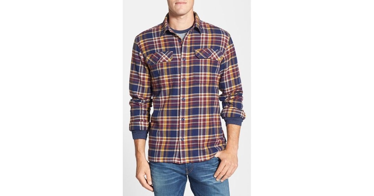b4a82000e4a0 Patagonia  fjord  Regular Fit Organic Cotton Flannel Shirt in Blue for Men  - Lyst