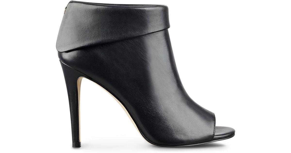 2c39f110712 Ivanka Trump Derri Open Toe High Heel Booties in Black - Lyst