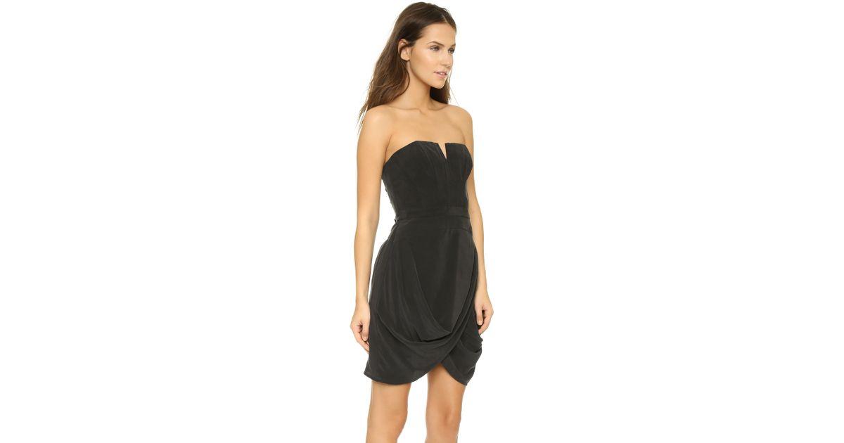 Zimmermann Laced Strapless Dress in Black
