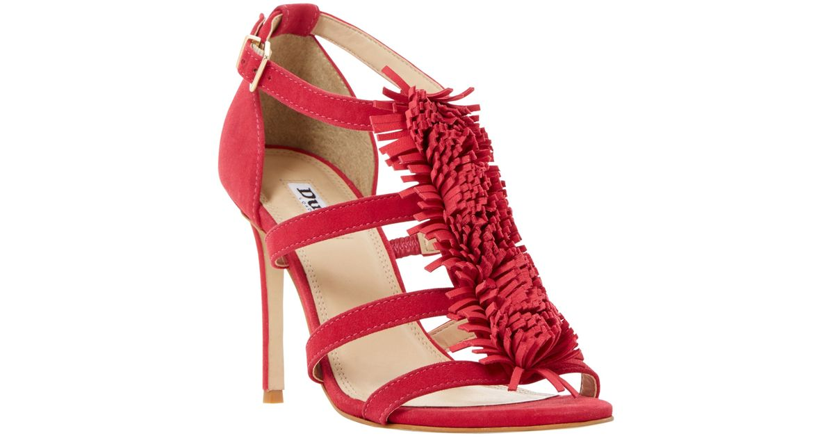 dune suede heeled sandals in pink pink suede lyst