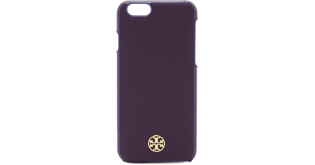factory authentic 6e60d 167d2 Tory Burch Purple Robinson Hardshell Iphone 6 / 6s Case - Rose Gold