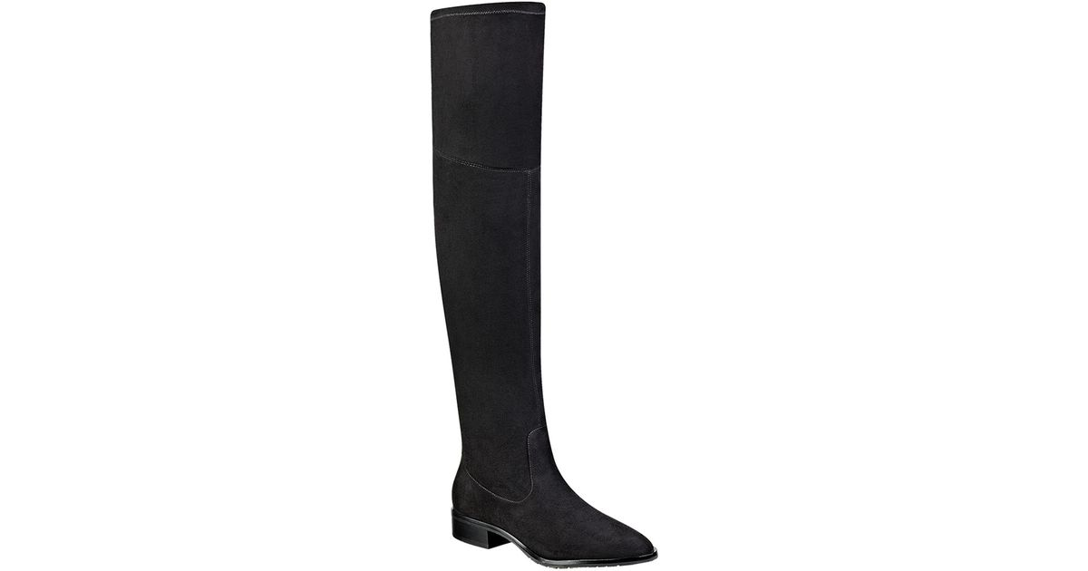 Ivanka trump Livi Over-the-knee Faux Suede Boots in Black ...