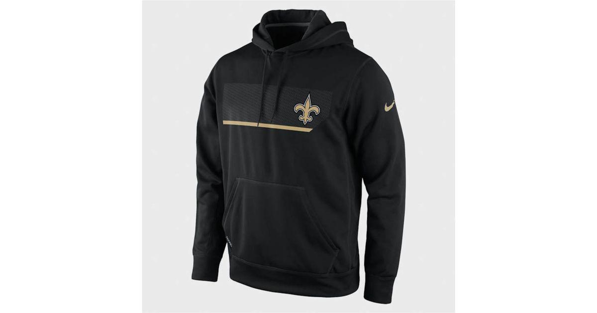 4e8db202 Nike Black Mens New Orleans Saints Performance Hoodie Sweatshirt for men