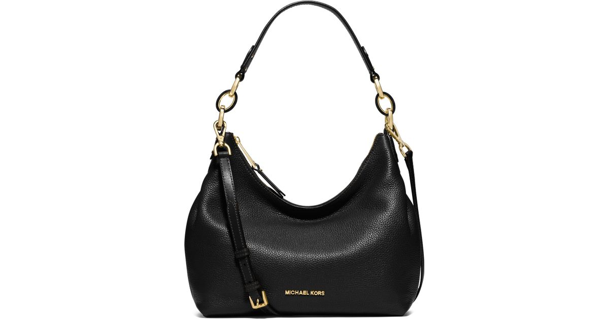 Lyst - Michael Michael Kors Isabella Medium Pebbled Leather Hobo Bag in  Brown