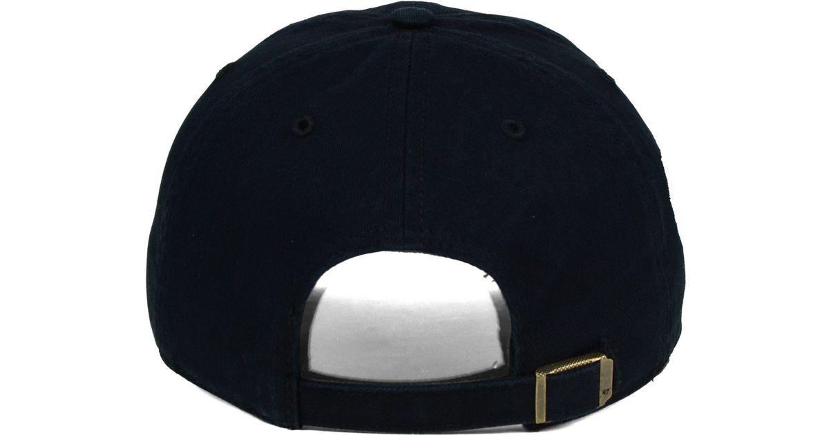 61f6eb92c21 Lyst - 47 Brand Boston Bruins Winter Classic Clean Up Cap in Black for Men
