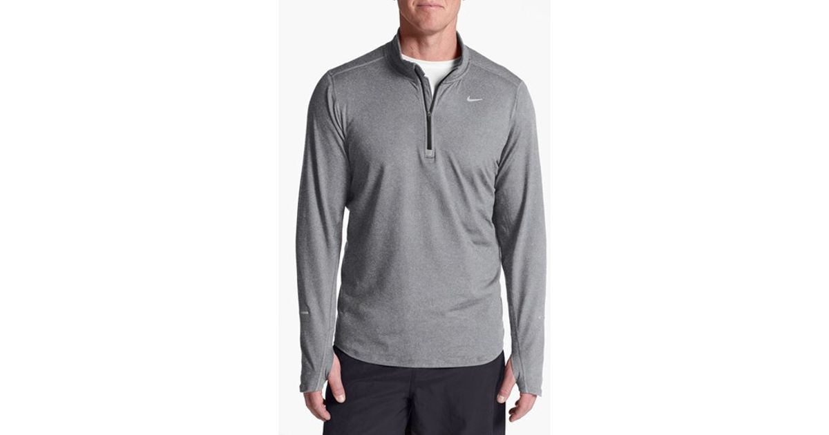 af52066958a22 Nike Gray 'element' Dri-fit Half Zip Running Top for men