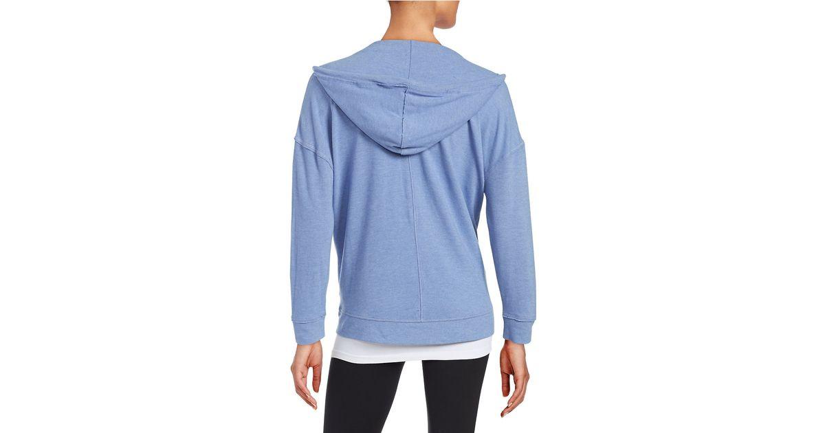 Zip Hoodie Knitting Pattern : Kensie Zip-front Knit Hoodie in Blue Lyst