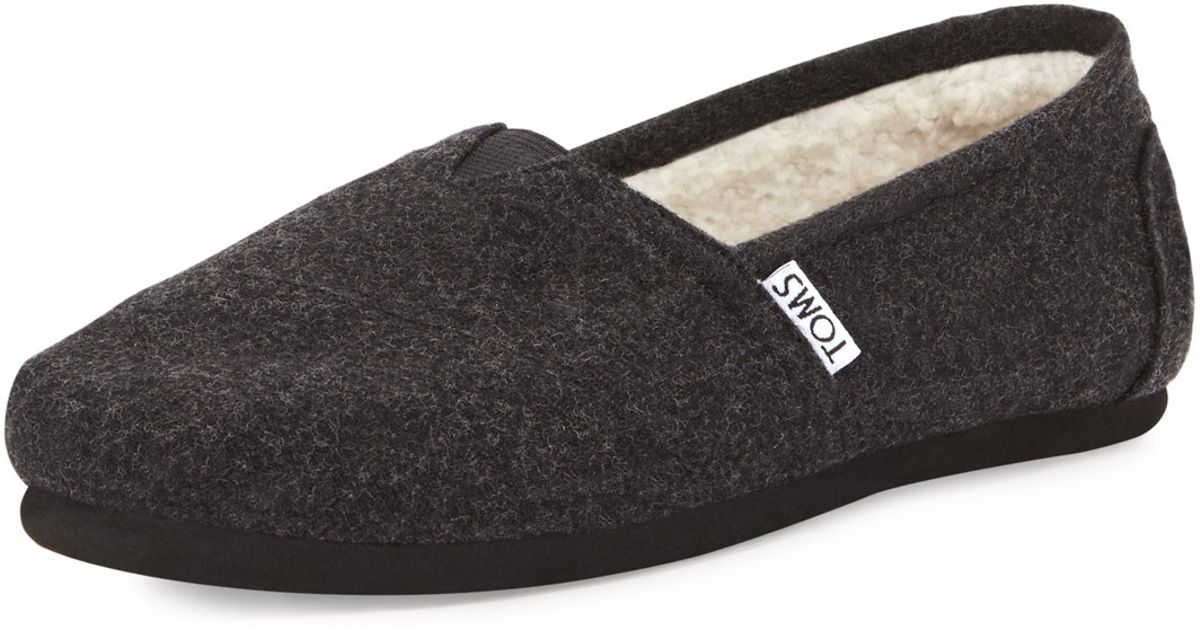 Lyst Toms Classic Wooly Fleece Lined Slip On In Black