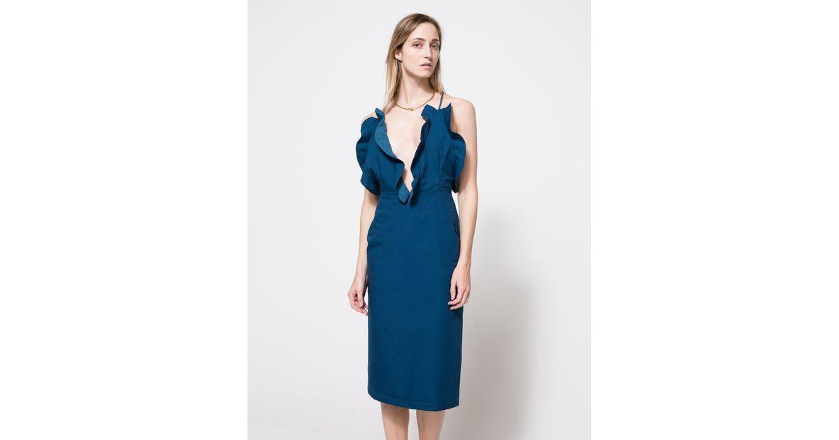 Lyst - Toit Volant Flore Dress in Blue cc89dc38183
