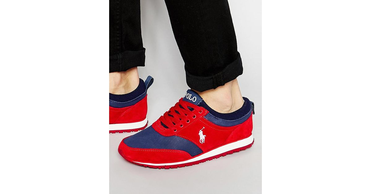 Red Ralph Polo Lauren Runner Men Ponteland Trainers For IYbf7gm6yv