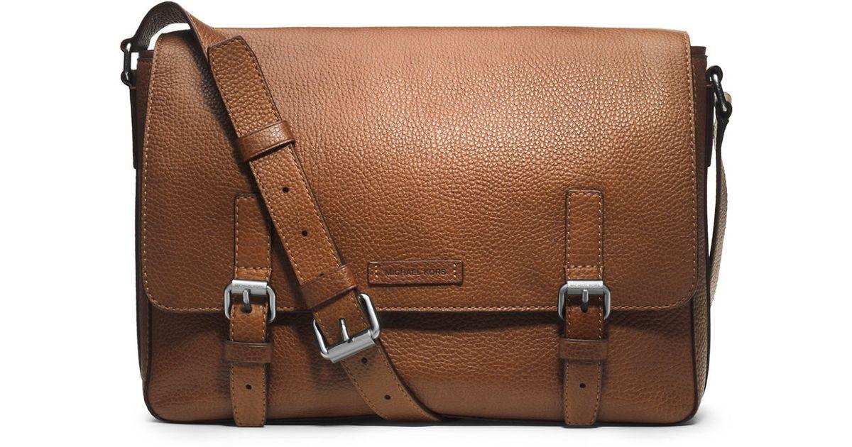 32ffb8ec4a0b Lyst - Michael Kors Bryant Leather Messenger Bag in Brown for Men
