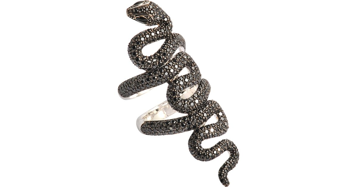 Thomas Sabo Serpent Sterling Silver Ring In Silver Lyst