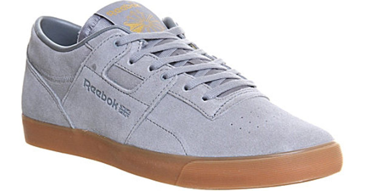 f2506521389127 Reebok Workout Low Trainers - For Men in Gray for Men - Lyst
