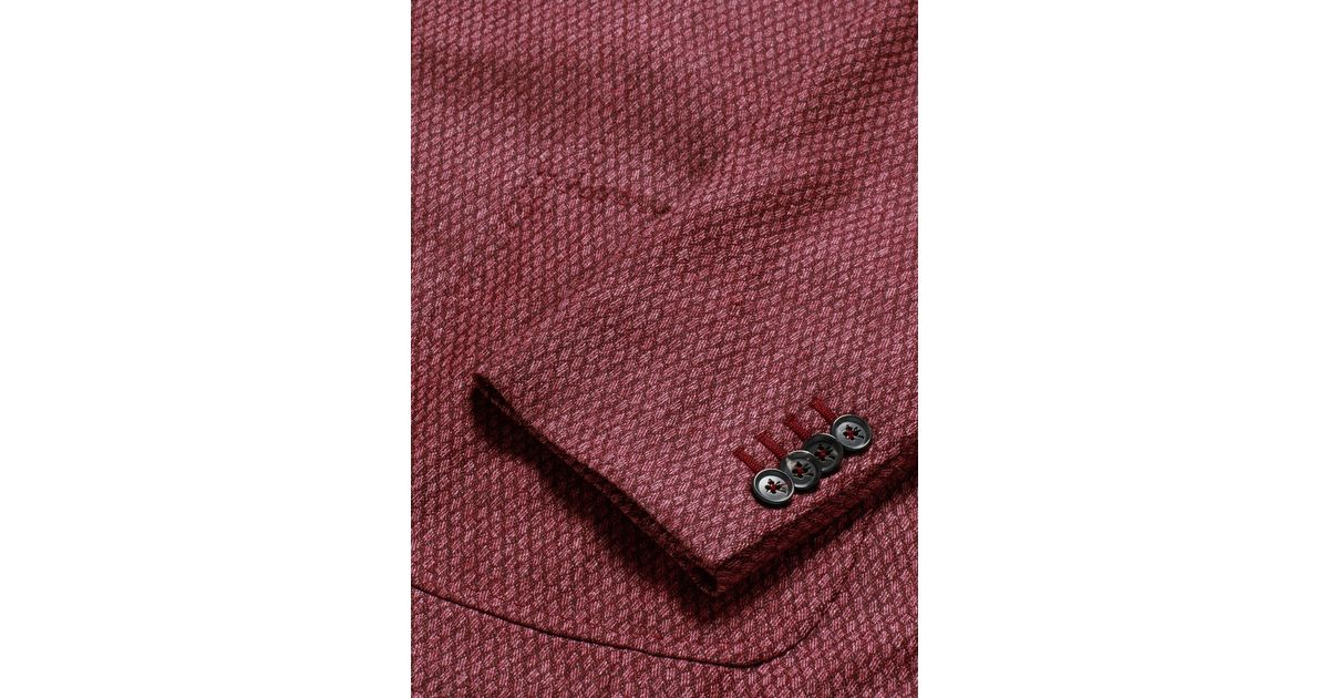 27ff50d0aba Lyst - Isaia  cortina  Geometric Pattern Wool-cashmere-cotton Blazer in Red  for Men